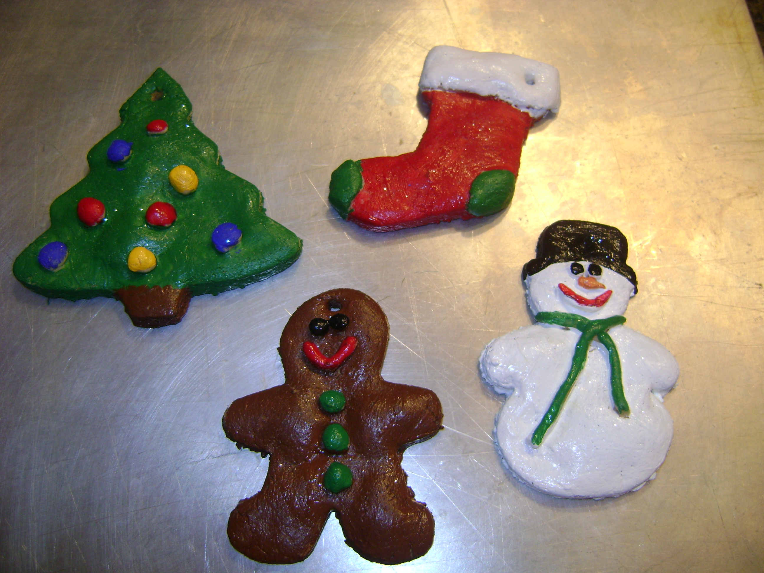 christmas tree decorations homemade dough holliday decorations