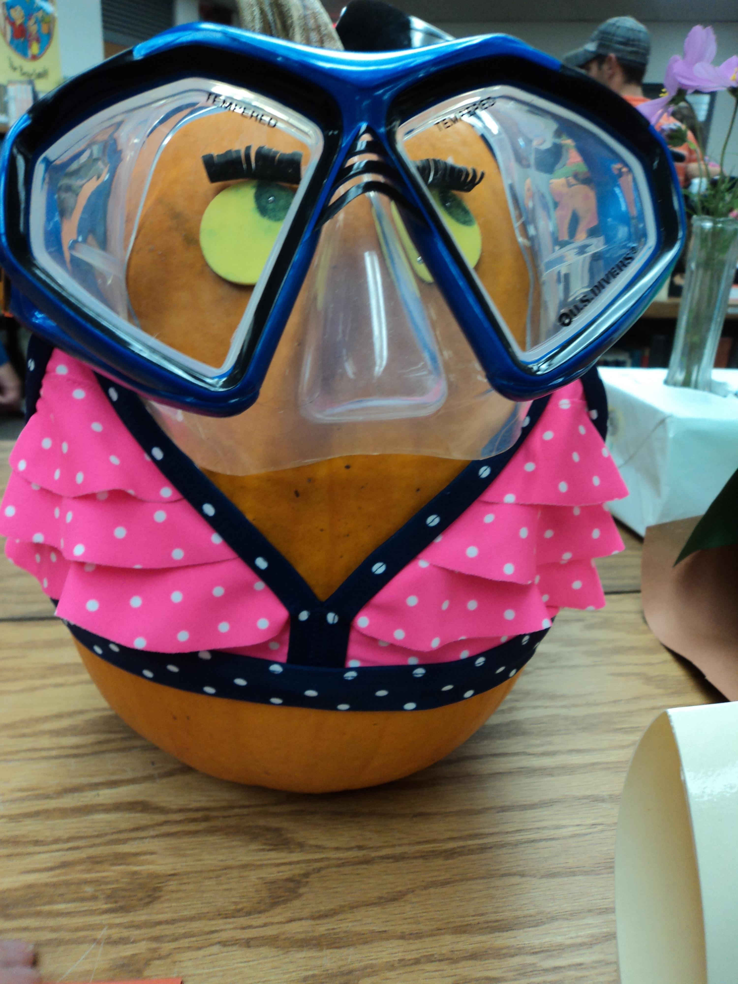 Pumpkin Decorating Ideas: Bathing Beauty